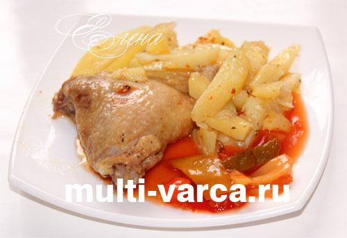 бедрышки куриные рецепт в сметане в мультиварке