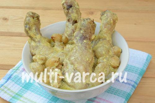 Рецепт Курица с картошкой в сливках в мультиварке на