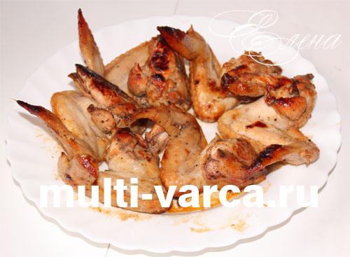 рецепт картошки и куриных крылышек в мультиварке