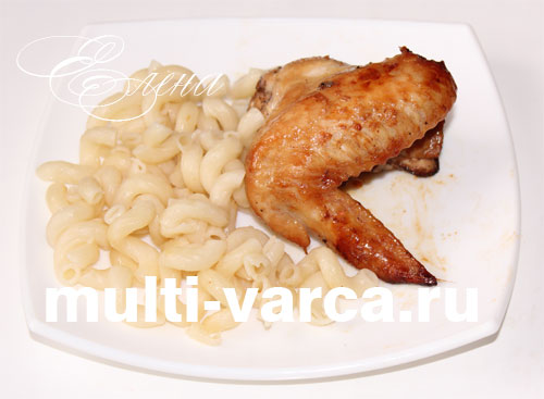 рецепт куриных крылышек мультиварке