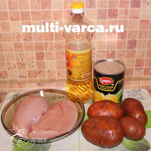 курица запеченная с ананасами и сыром