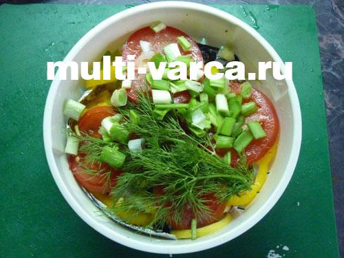 Скумбрия с овощами в мультиварке на пару рецепты