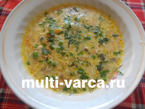 Суп из вешенок в мультиварке