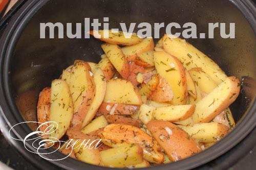 Картошка по деревенски в мультиваркеы с фото