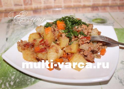 картошка фарш морковь лук
