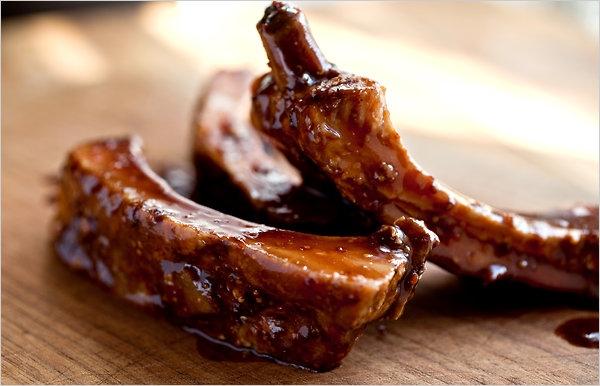 ребрышки свиные в мультиварке с соевым соусом и медом