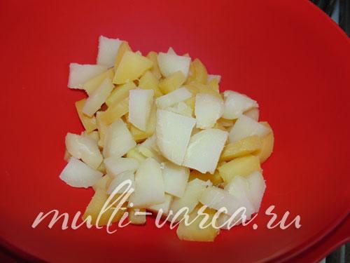 Картофельный салат с килькой