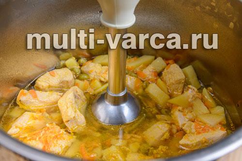 суп пюре куриный в мультиварке рецепты