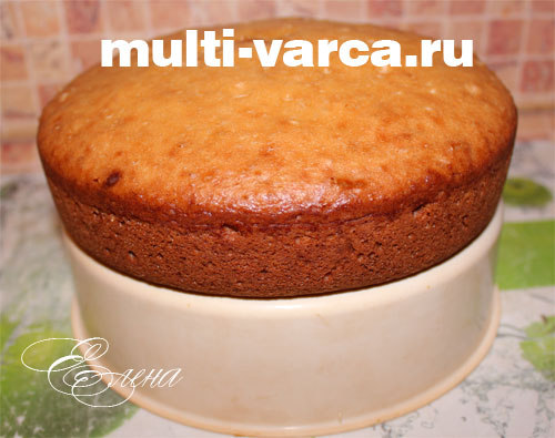 бисквит на сметане в мультиварке рецепты с фото