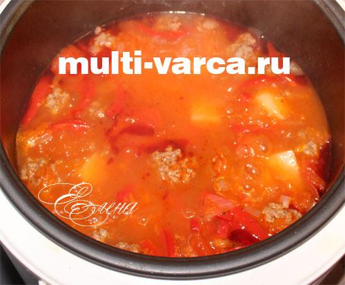 Томатный суп мультиварке рецепты фото