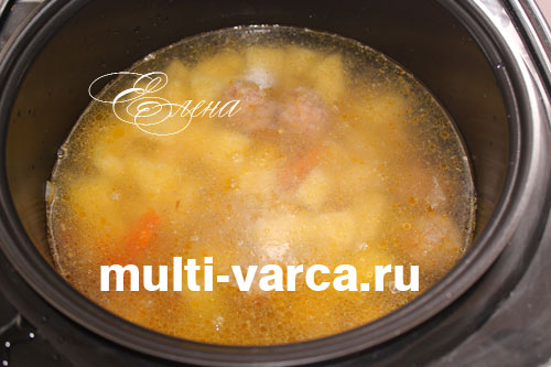 суп с фрикадельками рецепт в мультиварке редмонд видео