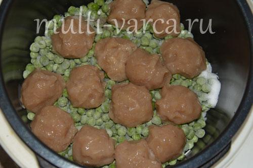 Как приготовить суп из зеленого горошка с рисом и фрикадельками