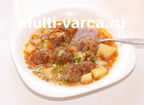 рецепт супа с фрикадельками из фарша видео рецепты
