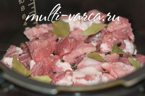 Тушенка из свинины в мультиварке-скороварке