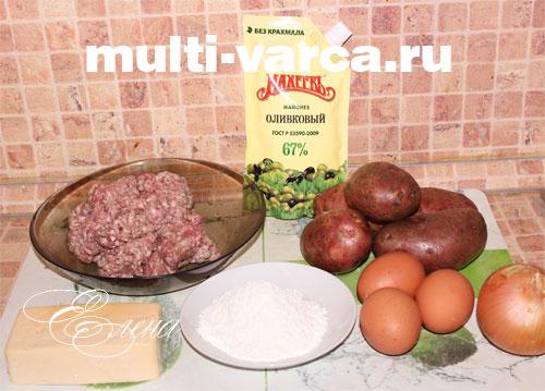 Рецепт приготовления запеканки из картофельного пюре с фаршем в мультиварке
