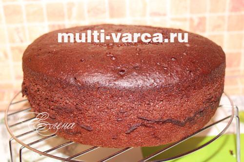 Бисквит для торта шоколадный в мультиварке рецепты с фото