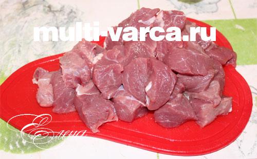 Приготовление блюдо из мясо и его оформление