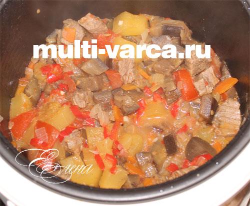 Говядина с овощами в мультиварке редмонд рецепты пошагово