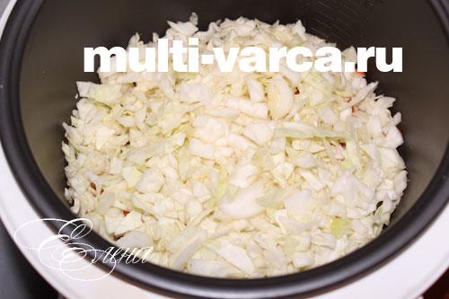 как потушить капусту с кабачками в мультиварке