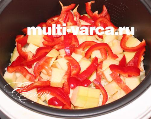 рецепт капусты с кабачками в мультиварке с фото