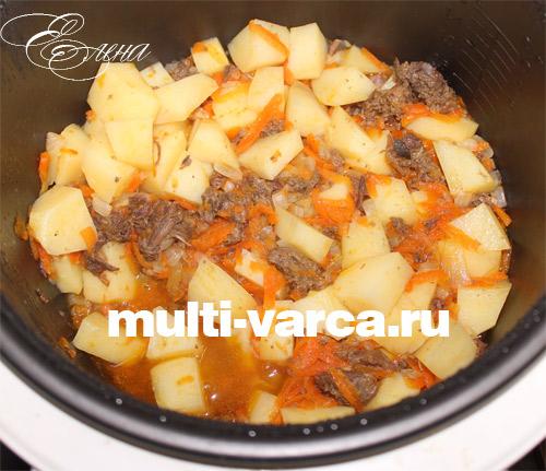 картошка с тушенкой в мультиварке редмонд рецепт с фото