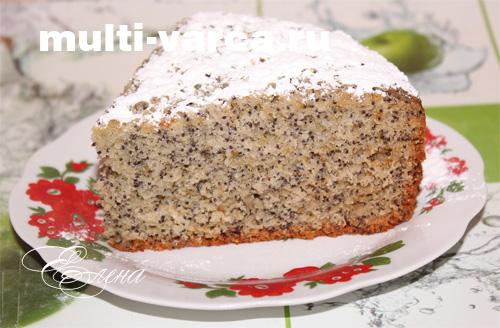 Быстрый пирог с маком