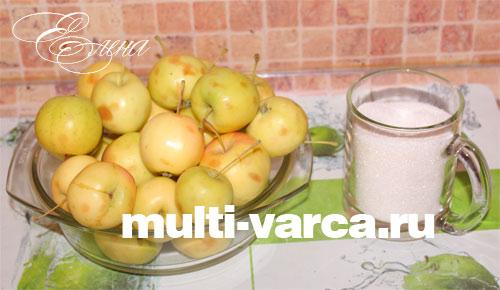 Ингредиенты для компота из яблок в мультиварке