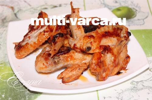 рецепт куриных крылышек с томатной пастой в мультиварке