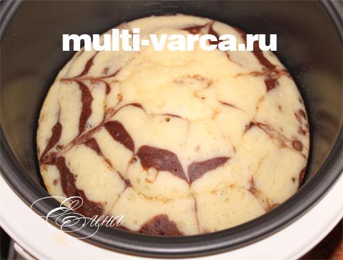 рецепт торта зебра в мультиварке