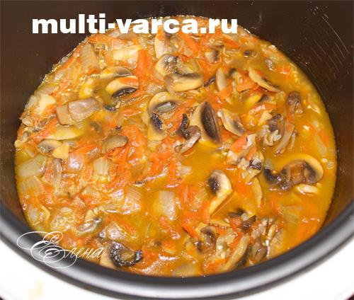 постный плов с грибами в мультиварке рецепты