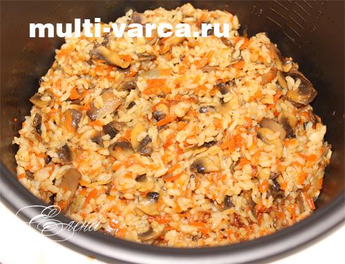 плов с грибами в мультиварке рецепты с фото
