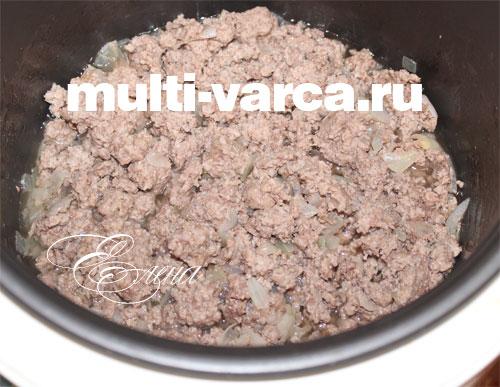 картофель с фаршем приготовленный в мультиварке рецепт с фото