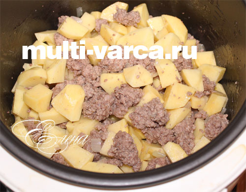 картошка с фаршем рецепт с фото в мультиварке