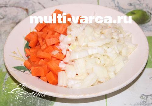 Тушеная индейка с картошкой и овощами в мультиварке. Шаг третий