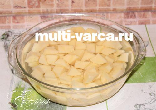 мясной фарш с картошкой в мультьиварке