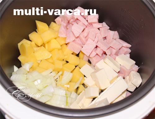 рецепт супа из копченой колбасы в мультиварке