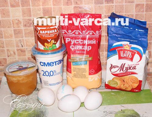 Что нам понадобится для приготовления медового бисквита в мультиварке