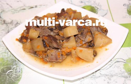 рецепты из говядины с грибами в мультиварке