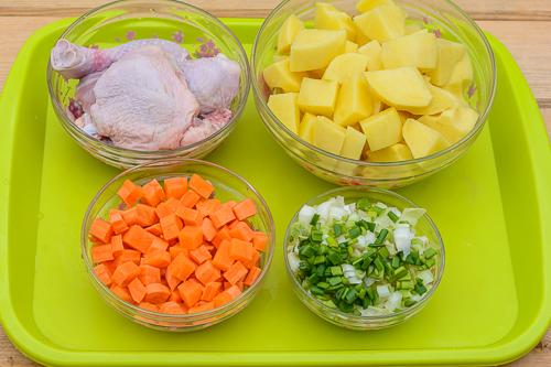 Штрудли с курицей и картошкой