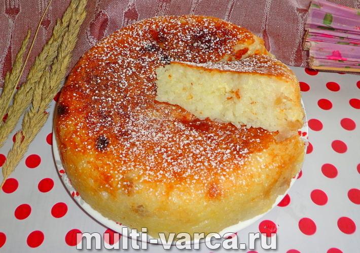 Рисовая запеканка с яблоками в мультиварке