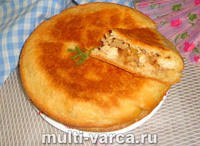Пирог с фаршем и картофелем в мультиварке