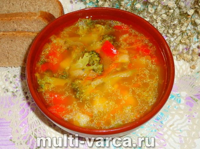 Суп с брокколи в мультиварке