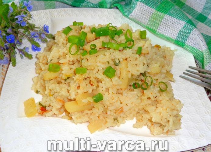 Рис с кальмарами в мультиварке