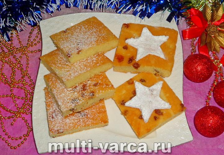 Печенье Мазурка с грецким орехом и изюмом