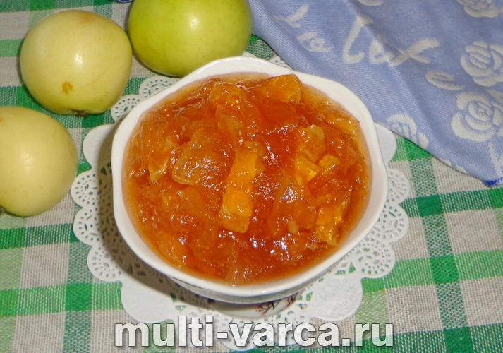 Варенье из яблок с апельсином на зиму