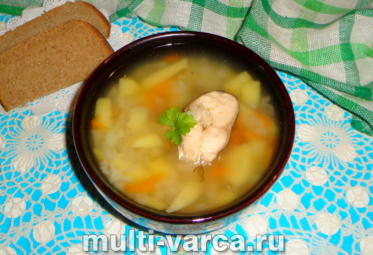 Суп из консервов горбуши в мультиварке