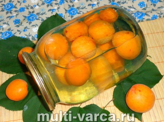 Компот из абрикосов на зиму, простой рецепт без стерилизации