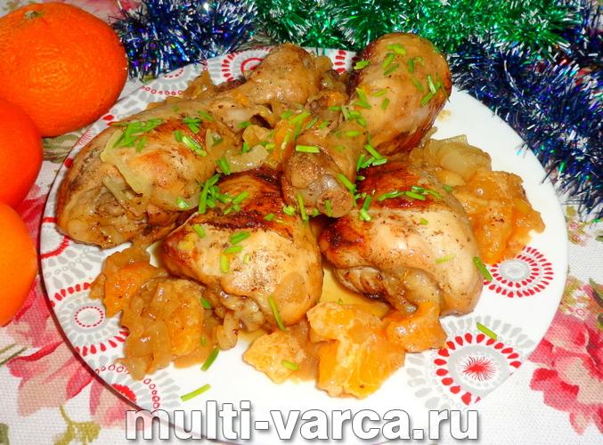 Как приготовить запеченную курицу с мандаринами в духовке, пошаговый рецепт с фото