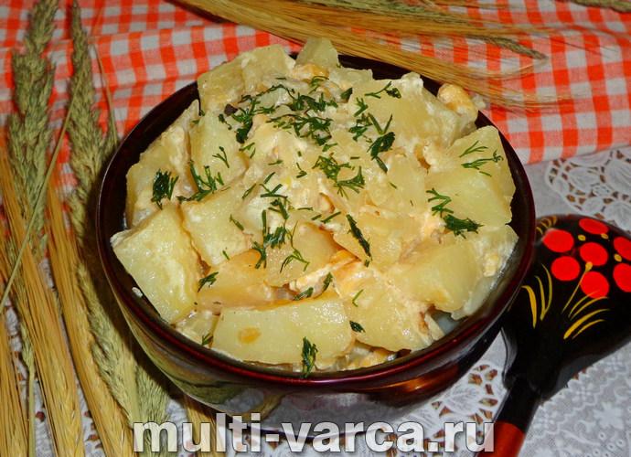 Картошка в сливках в мультиварке