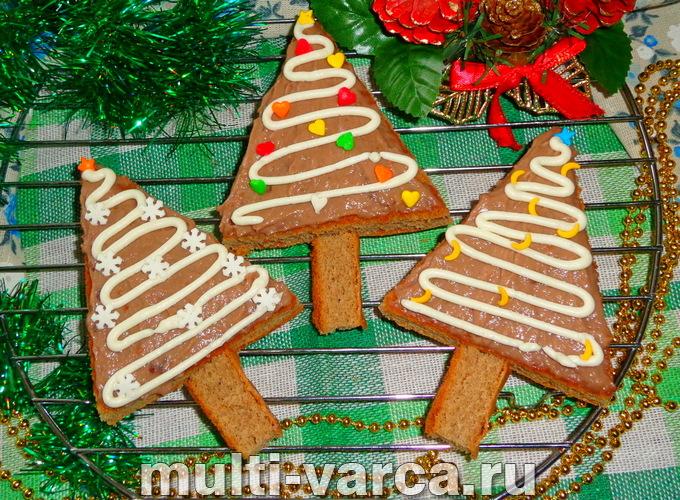 """Как приготовить вкусные новогодние бисквитные пирожные """"Елочки"""", пошаговый рецепт с фото"""